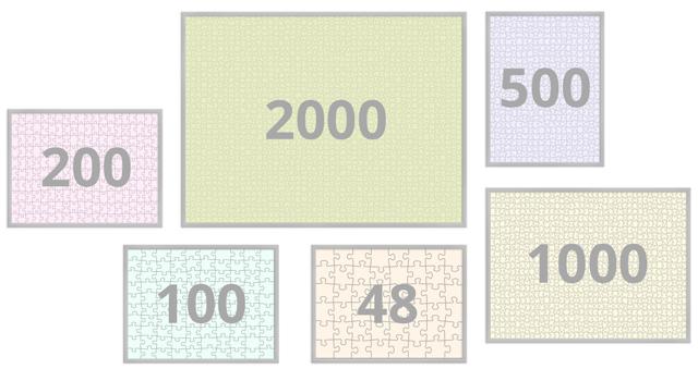 Marco para nuestro puzzle de fotos con 48-2000 piezas