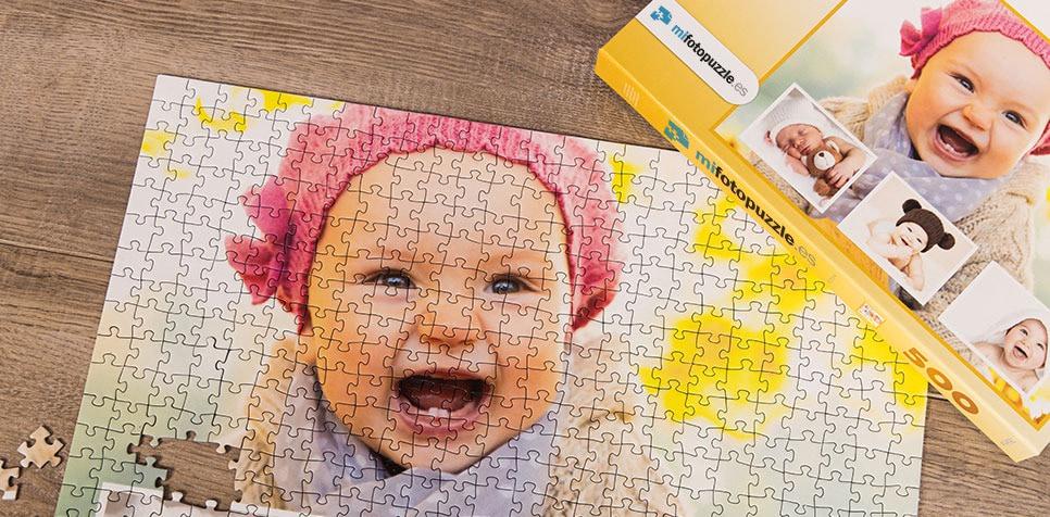 Fotopuzzle Collage fondo con su foto