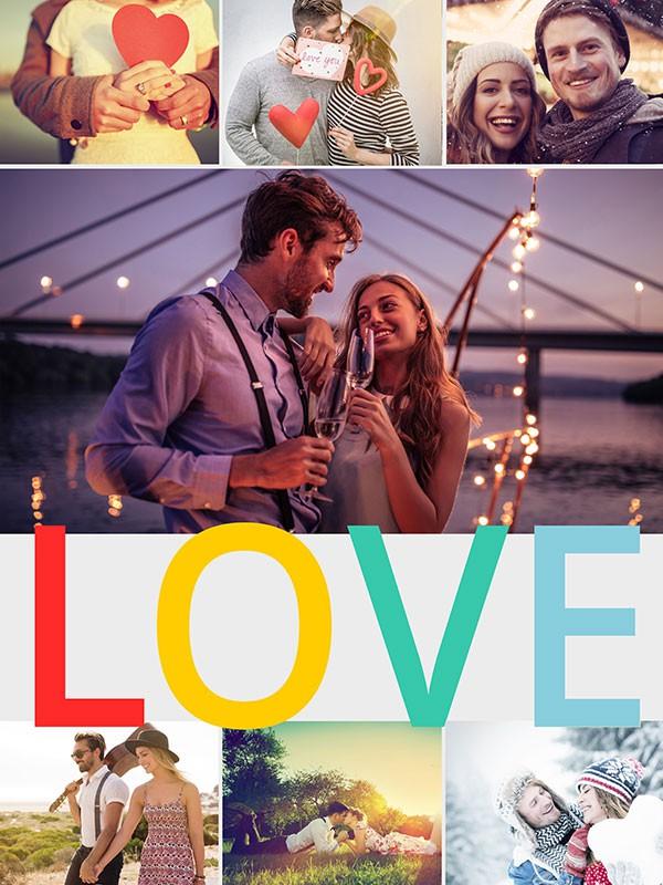 Fotopuzzle Collage con mensaje 7 Fotos
