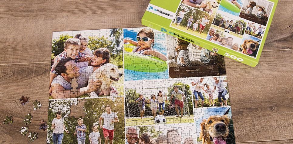 Fotopuzzle Collage con cuadrícula simple