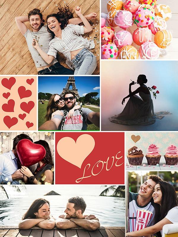 Fotopuzzle Collage con mensaje 8 Fotos