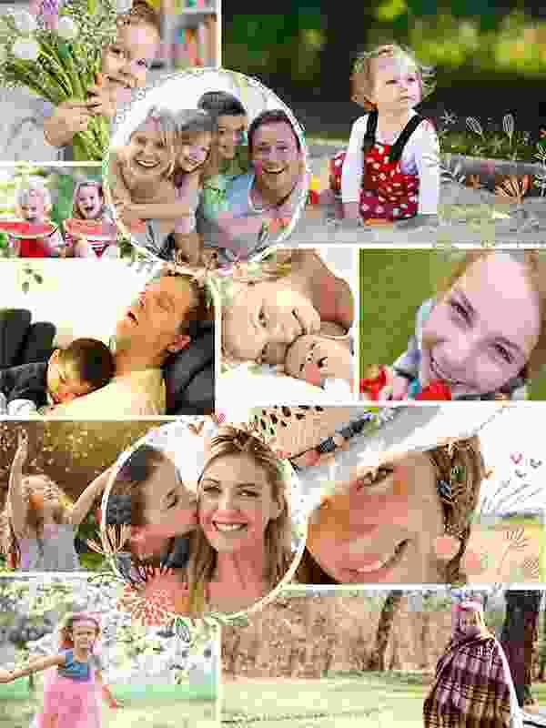 Fotopuzzle Collage con ilustración 12 Fotos