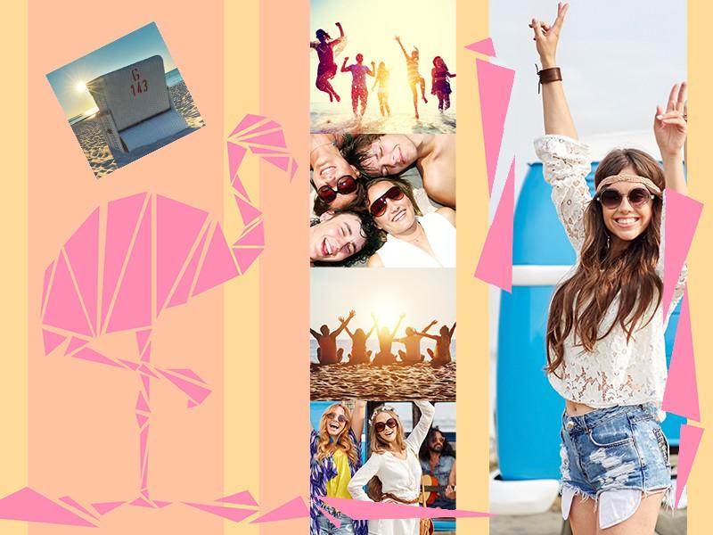 Fotopuzzle Collage con ilustración 6 Fotos