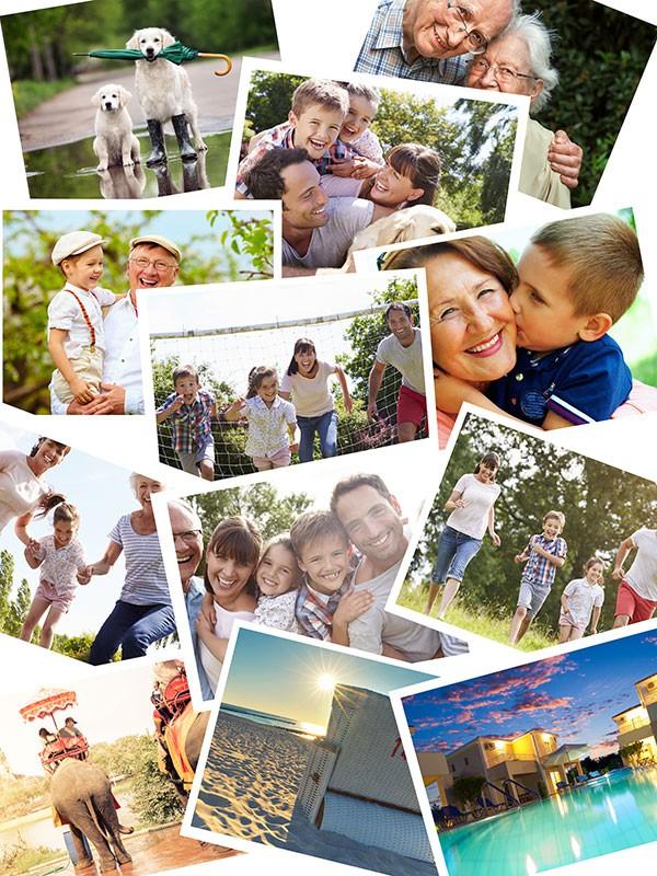 Fotopuzzle Collage apilado 12 Fotos
