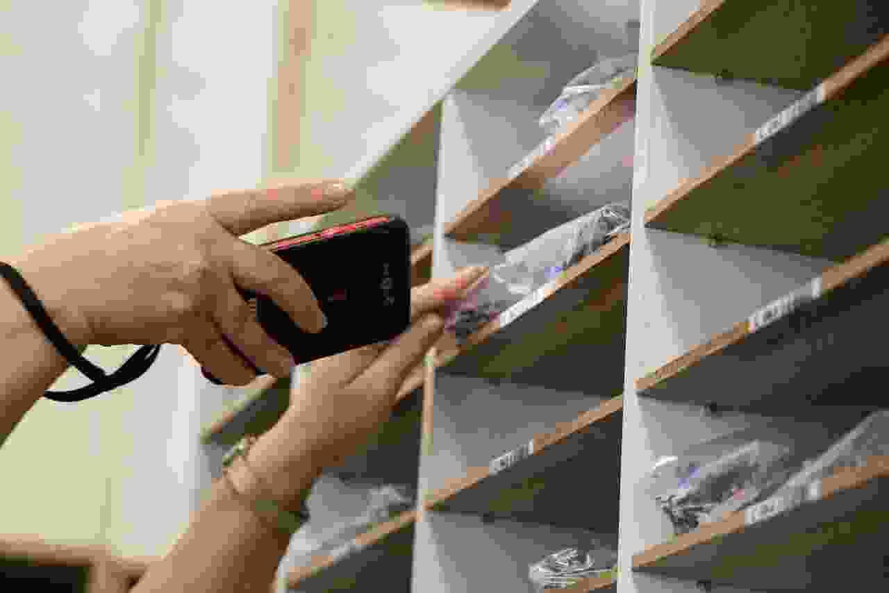 Almacenamiento de puzzles perforados terminados