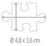 Tamaño de las piezas del Puzzle - Puzzle personalizado 100 piezas