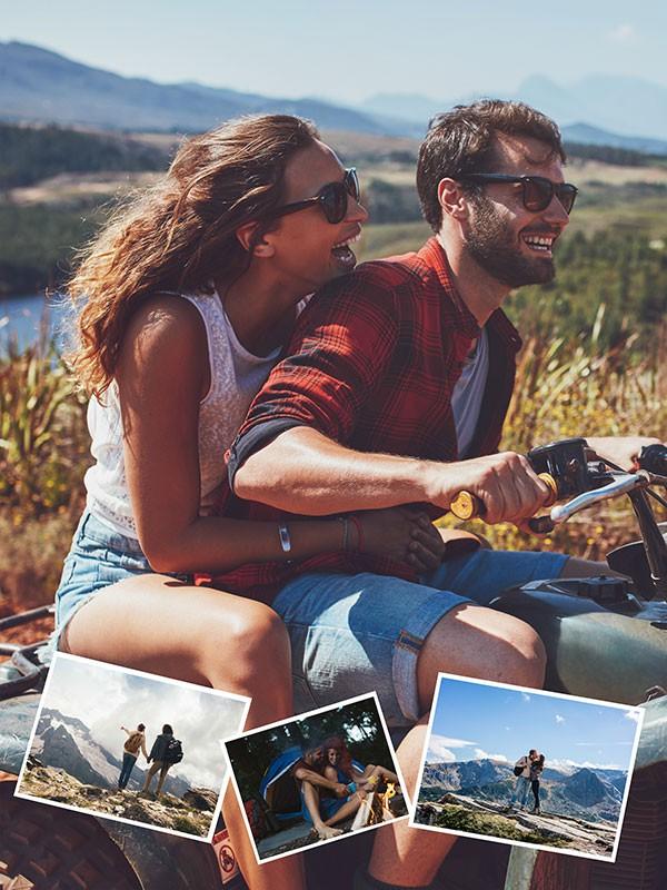 Fotopuzzle Collage fondo con su foto 4 Fotos