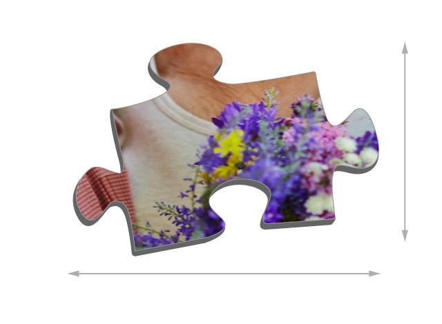 Tamaño de las piezas del puzzle