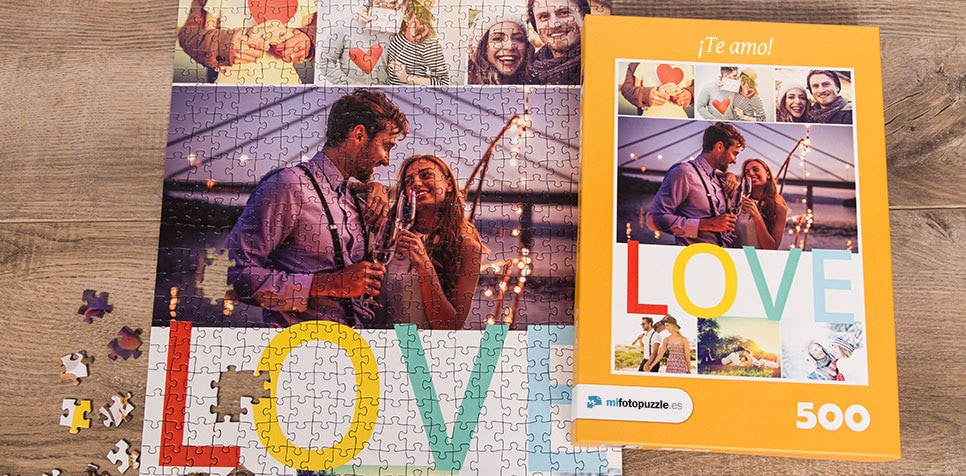Fotopuzzle Collage con mensaje