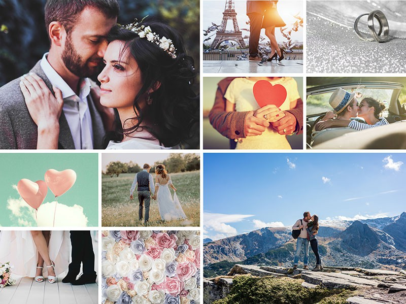 Fotopuzzle Collage con cuadrícula simple 10 Fotos