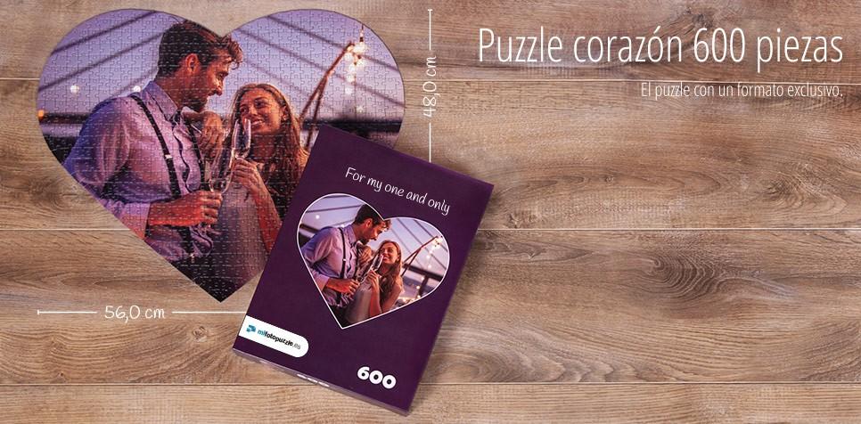 600 piezas Puzzle personalizado, Puzzle Corazón