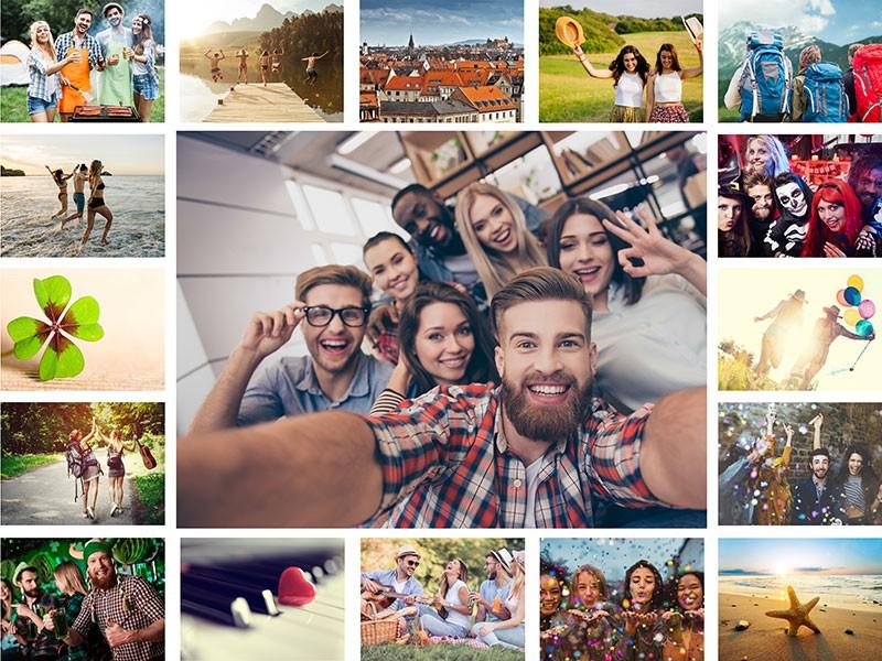 Fotopuzzle Collage con cuadrícula simple 17 Fotos