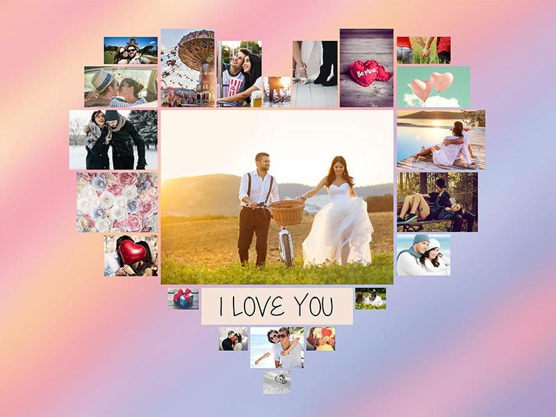 Fotopuzzle Collage con mensaje 22 Fotos