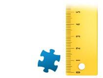 Proporción del tamaño de la pieza, Puzzle personalizado de 1000 piezas