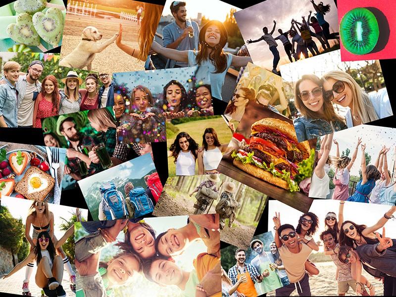 Fotopuzzle Collage apilado 20 Fotos