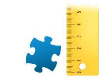 Proporción del tamaño de la pieza, Puzzle personalizado de 200 piezas