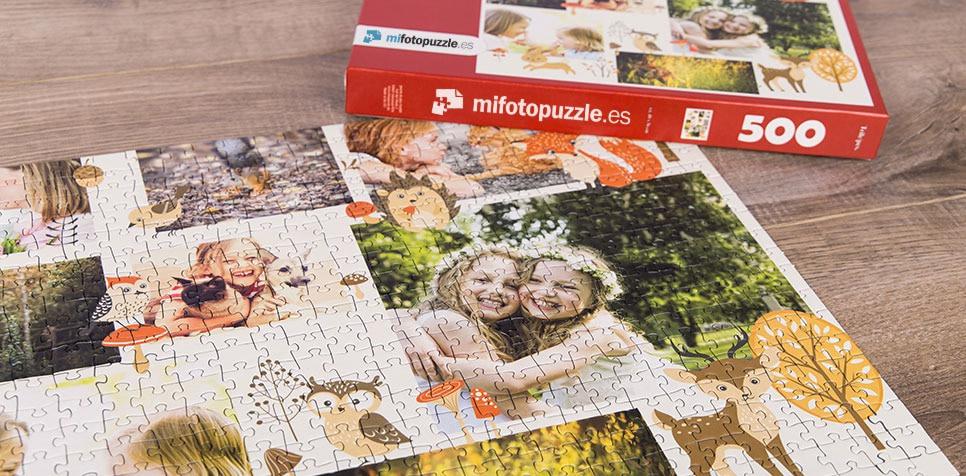 Fotopuzzle Collage con ilustración
