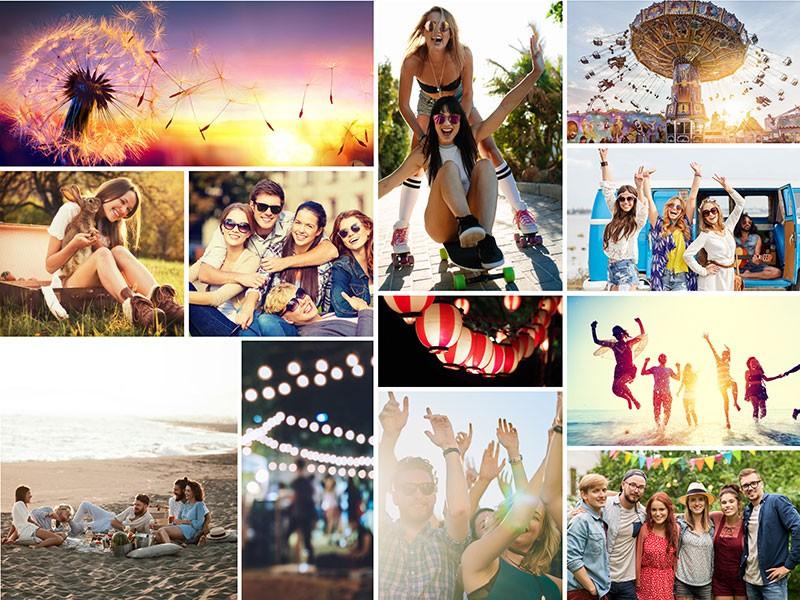 Fotopuzzle Collage con cuadrícula simple 12 Fotos