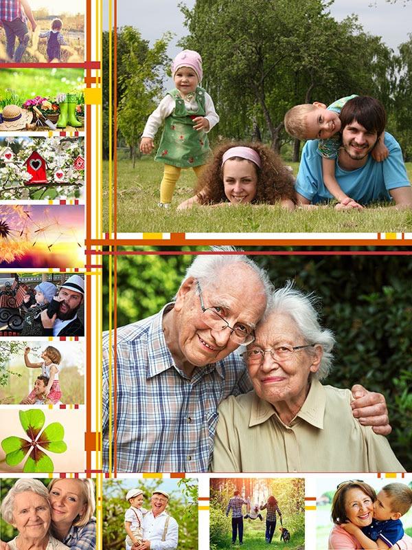 Fotopuzzle Collage con ilustración 13 Fotos