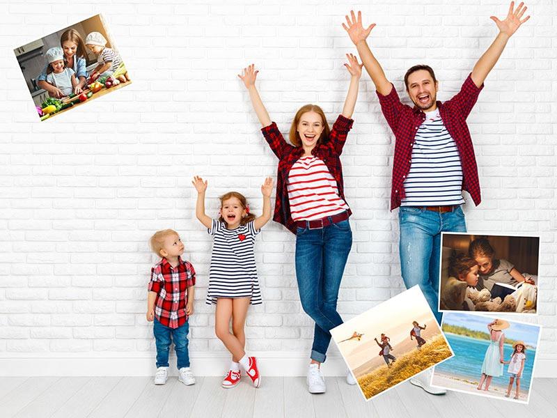 Fotopuzzle Collage fondo con su foto 5 Fotos