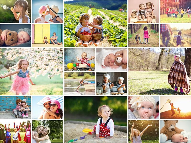 Fotopuzzle Collage con cuadrícula simple 24 Fotos