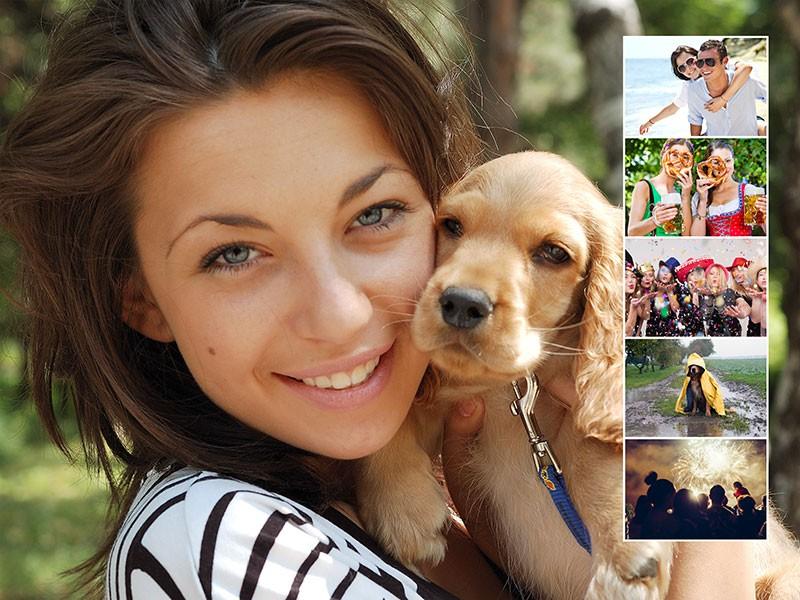 Fotopuzzle Collage fondo con su foto 6 Fotos
